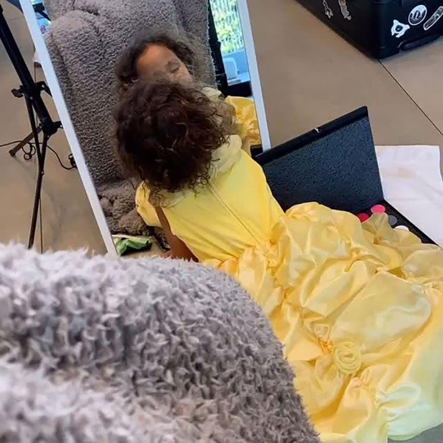 Chrissy Teigen and John Legend's Daughter Luna Simone Wearing Princess Dresses