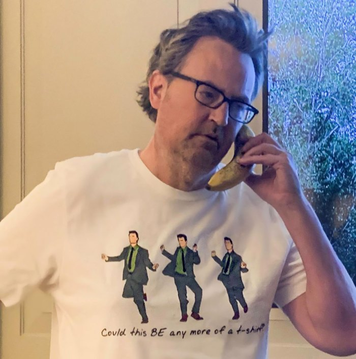 Could Matthew Perry's Chandler Bing Shirt BE Anymore Perfect?