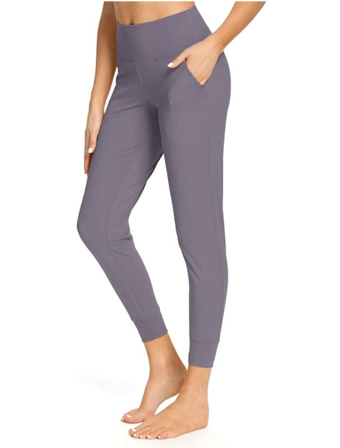Pantalón deportivo de yoga de cintura alta con bolsillos Mesily para mujer