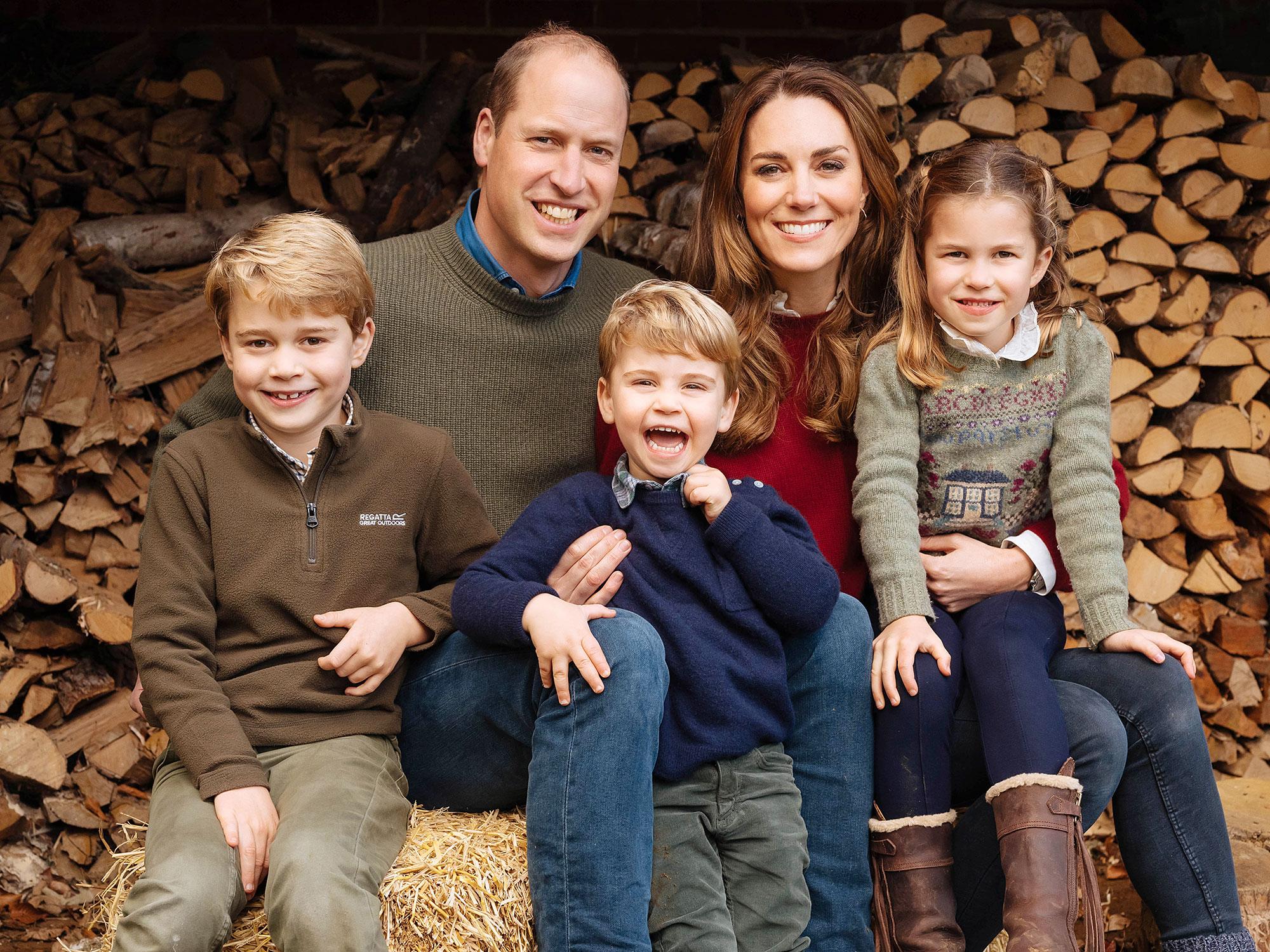Prince George Prince William Prince Louis Duchess Kate Princess Charlotte Royal Christmas Card 2020