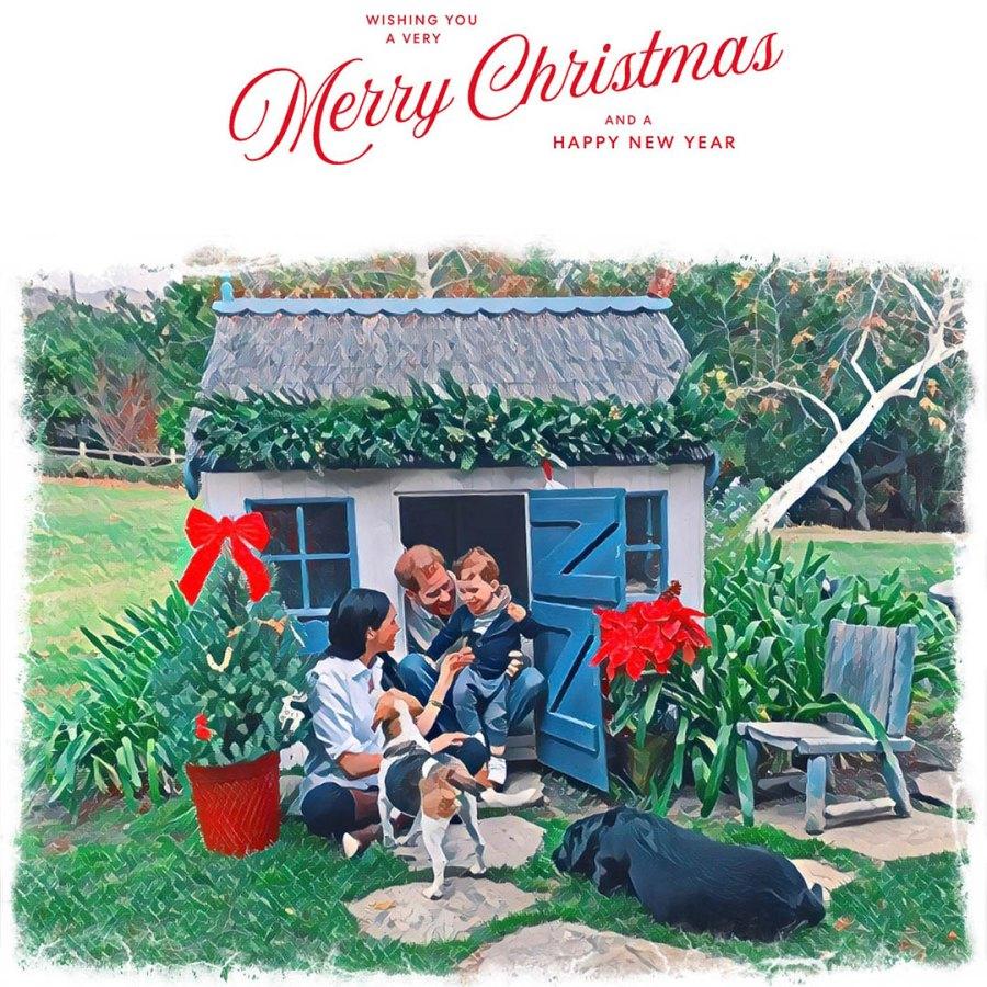 Prince Harry Meghan Markle Archie Christmas Card 2020