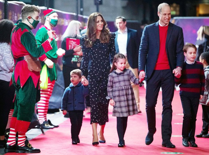 Prince Louis Duchess Kate Princess Charlotte Prince William and Prince George at the Palladium Theatre Prince William and Duchess Kate Plan to Bring Kids to More Royal Engagements