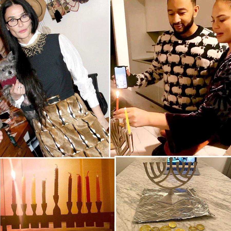 Stars Celebrate Hanukkah 2020 Demi Moore Chrissy Teigen