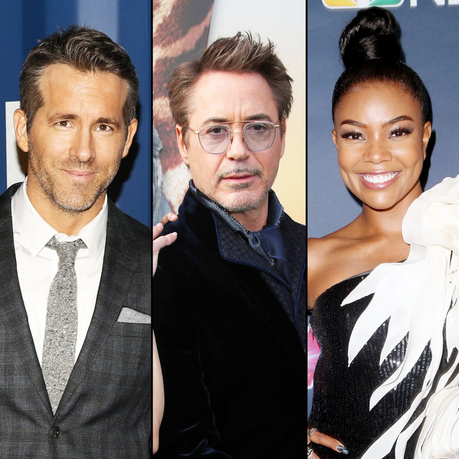 Ryan Reynolds Robert Downey Jr and Gabrielle Union Stars Reveal What They Took From Movie and TV Sets