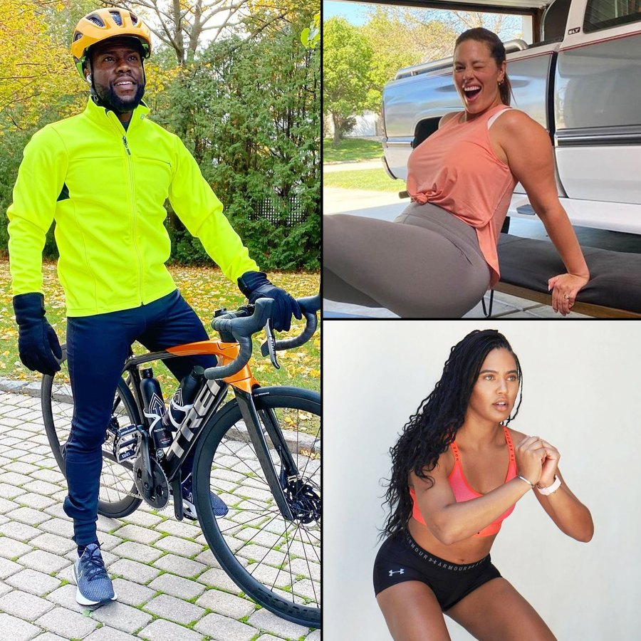 Kevin Hart Ashley Graham and Ayesha Curry Stars Share Their Workout Routines Amid Coronavirus