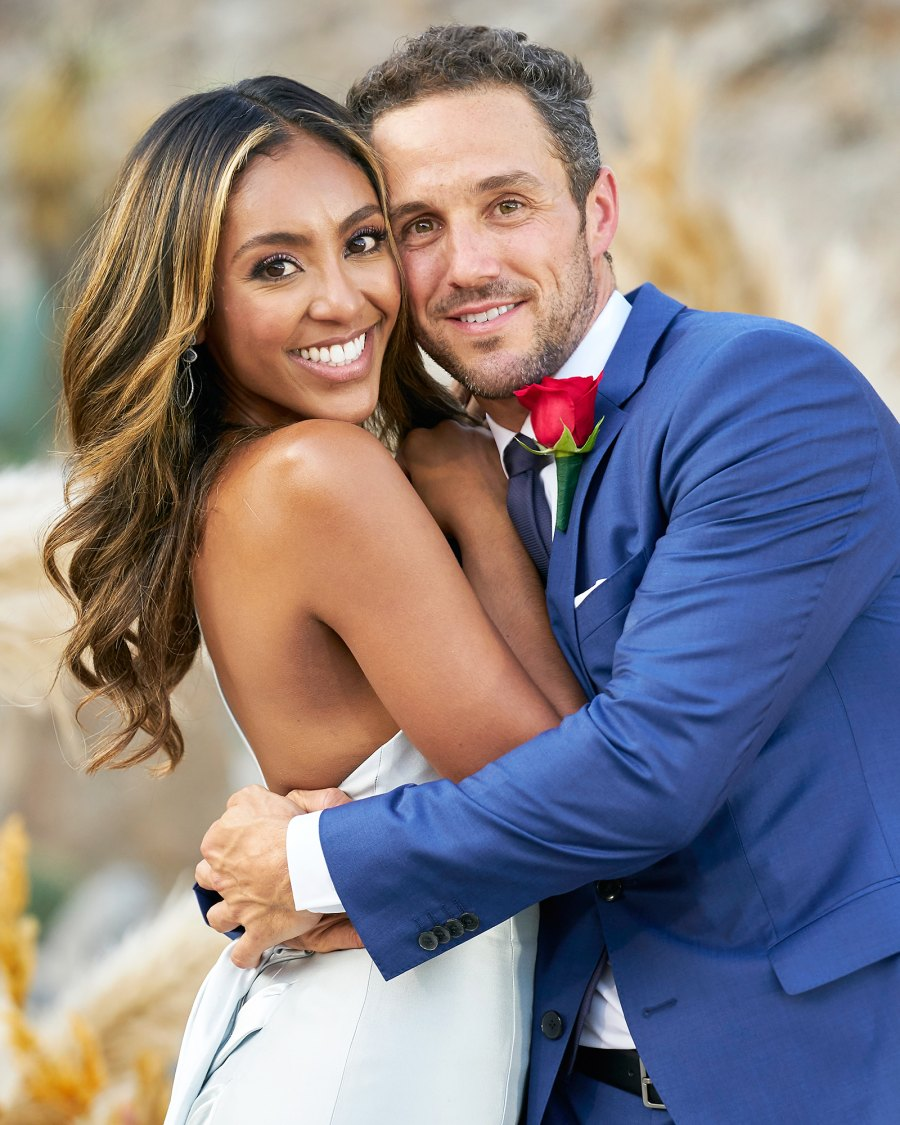Tayshia Adams and Zac on the finale of The Bachelorette Tayshia Adams Cozies Up to Zac Clark at Home After Emotional Bachelorette Finale