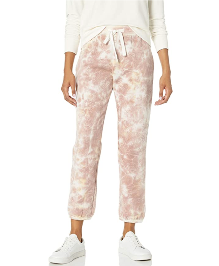 The Drop Women's Dina Fleece Elastic Hem Sweatpant