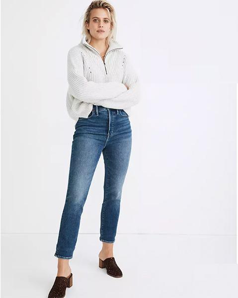 The Perfect Vintage Jean en lavado de madera de arce