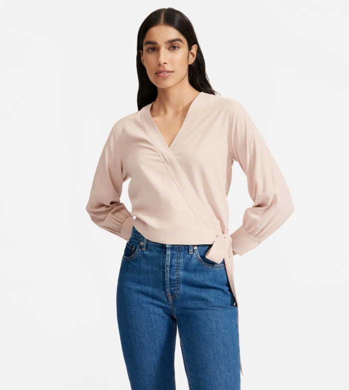 La blusa de seda lavable