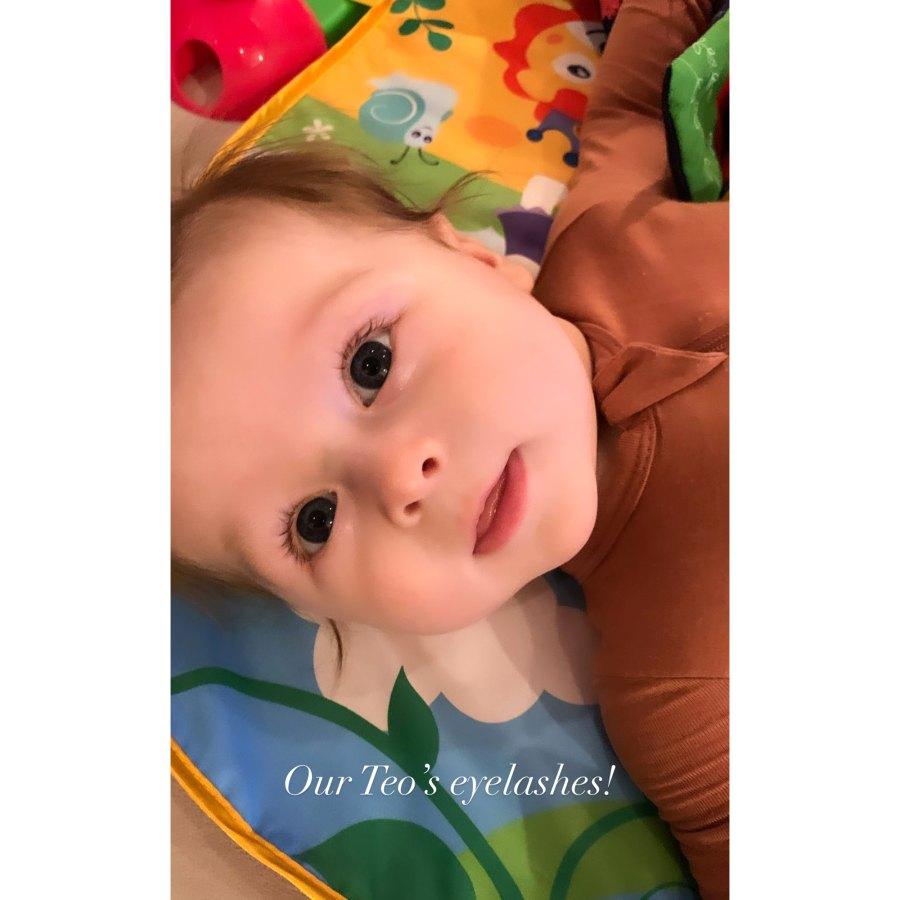 Those Lashes Nikki Bella Artem Chigvintsev Son Matteo Baby Album
