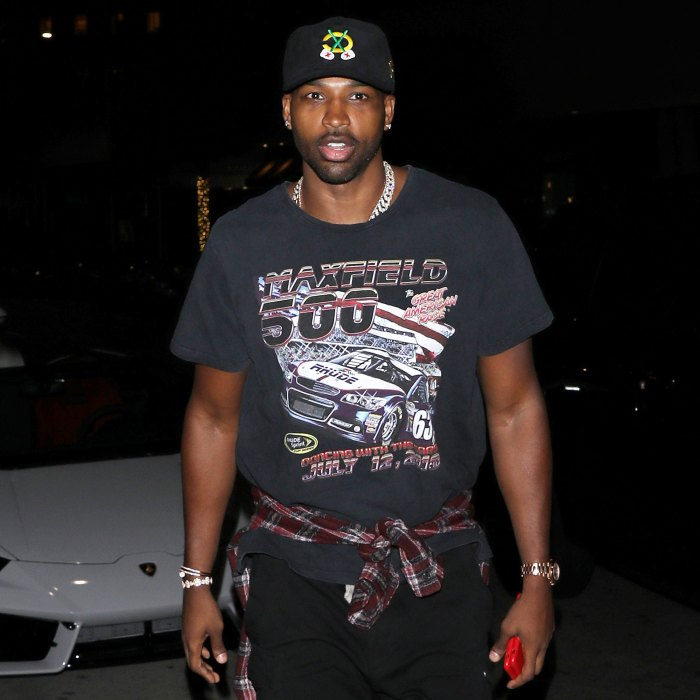 Tristan Thompson Spotted With Mystery Blonde But Its Not What You Think