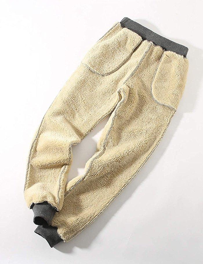 Pantalón de chándal con forro de sherpa amazon-gris