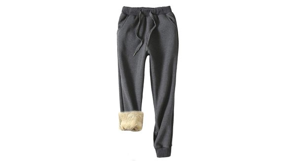 Sherpa-Lined Athletic Sweatpant Joggers