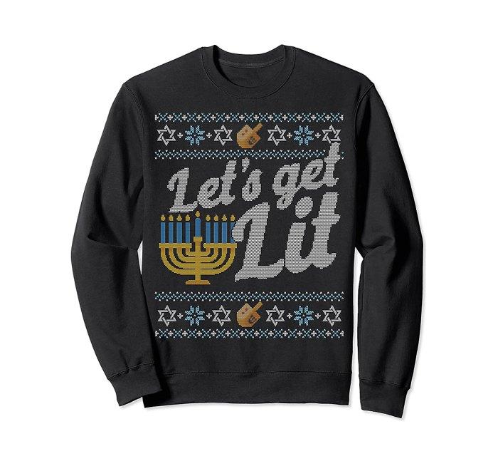 vacaciones-suéter-hanukkah-menorah