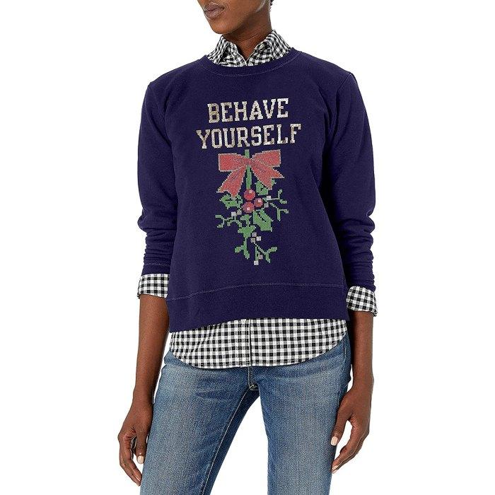 vacaciones-suéter-muérdago
