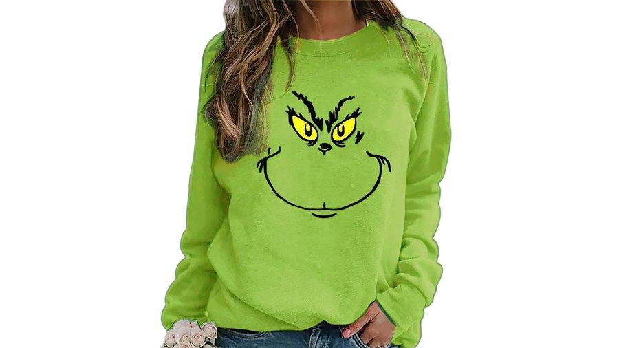 holiday-sweaters-sweatshirts-amazon-grinch