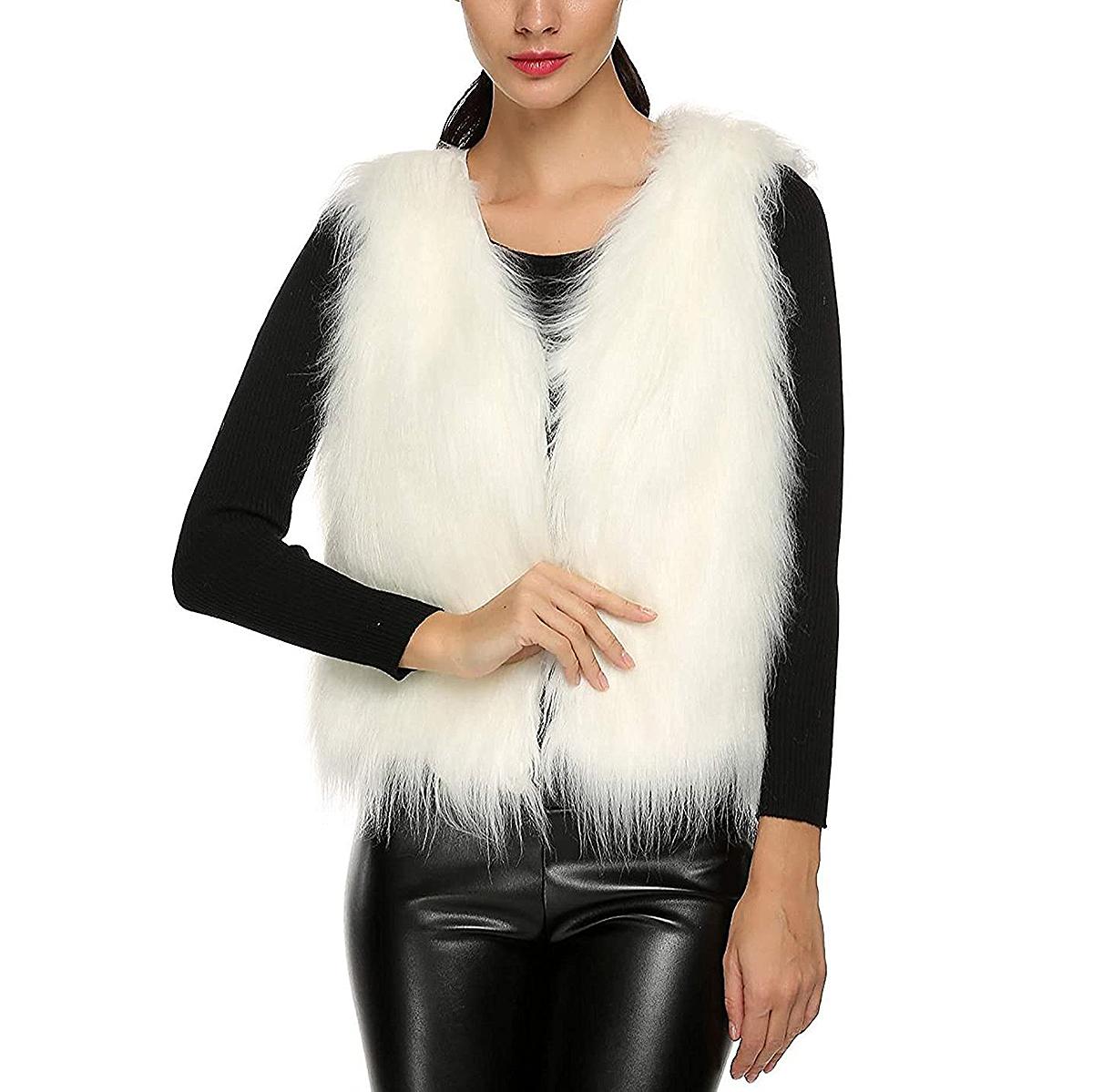 Tanming Short Faux Fur-Vest
