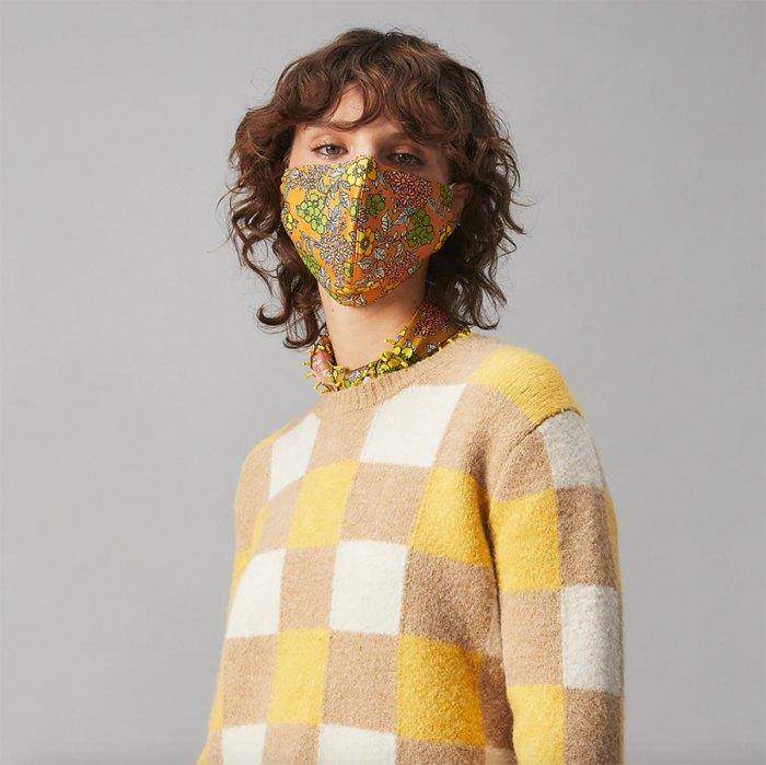 Mascarilla facial estampada Tory Burch, juego de 3 con estuche