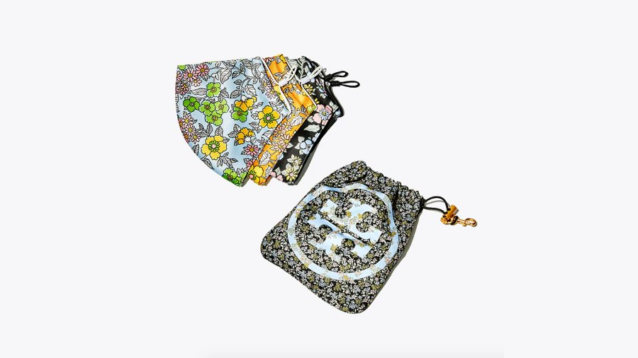 Tory Burch Printed Face Mask, Set of 3 With Pouch