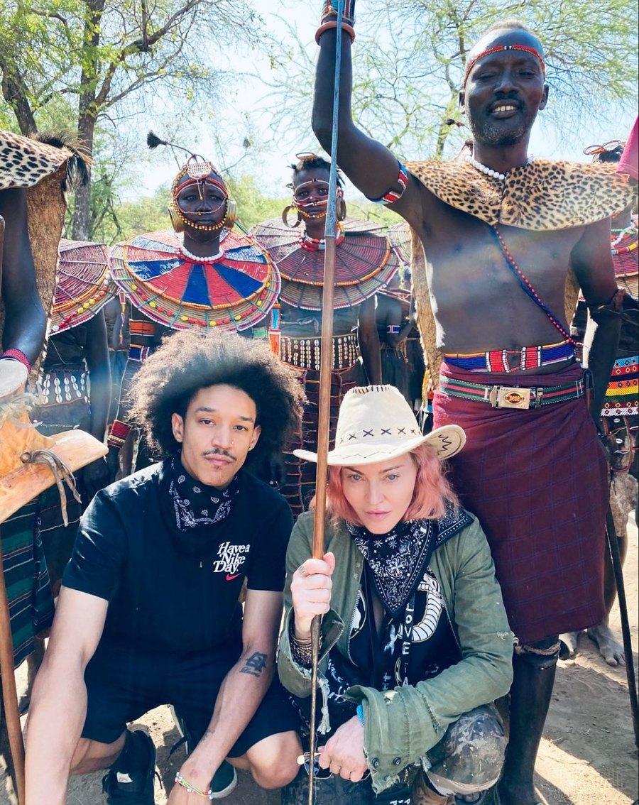 Madonna Enjoys a Special Trip to Kenya With Boyfriend Ahlamalik Williams and Kids