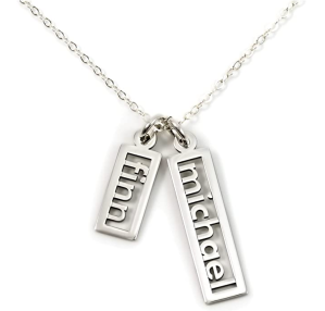 AJ's Collection Personalized Necklace Open Double