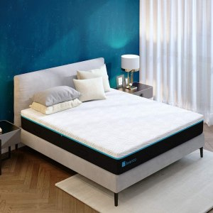 Avenco Queen Memory Foam Mattress in a Box, 10 Inch Gel-Infused Queen Size Mattress with Removable Plush Cover