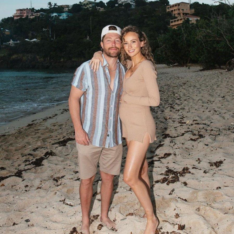 Beach Bump Lauren Bushnell and Chris Lane Babymoon Pregnant