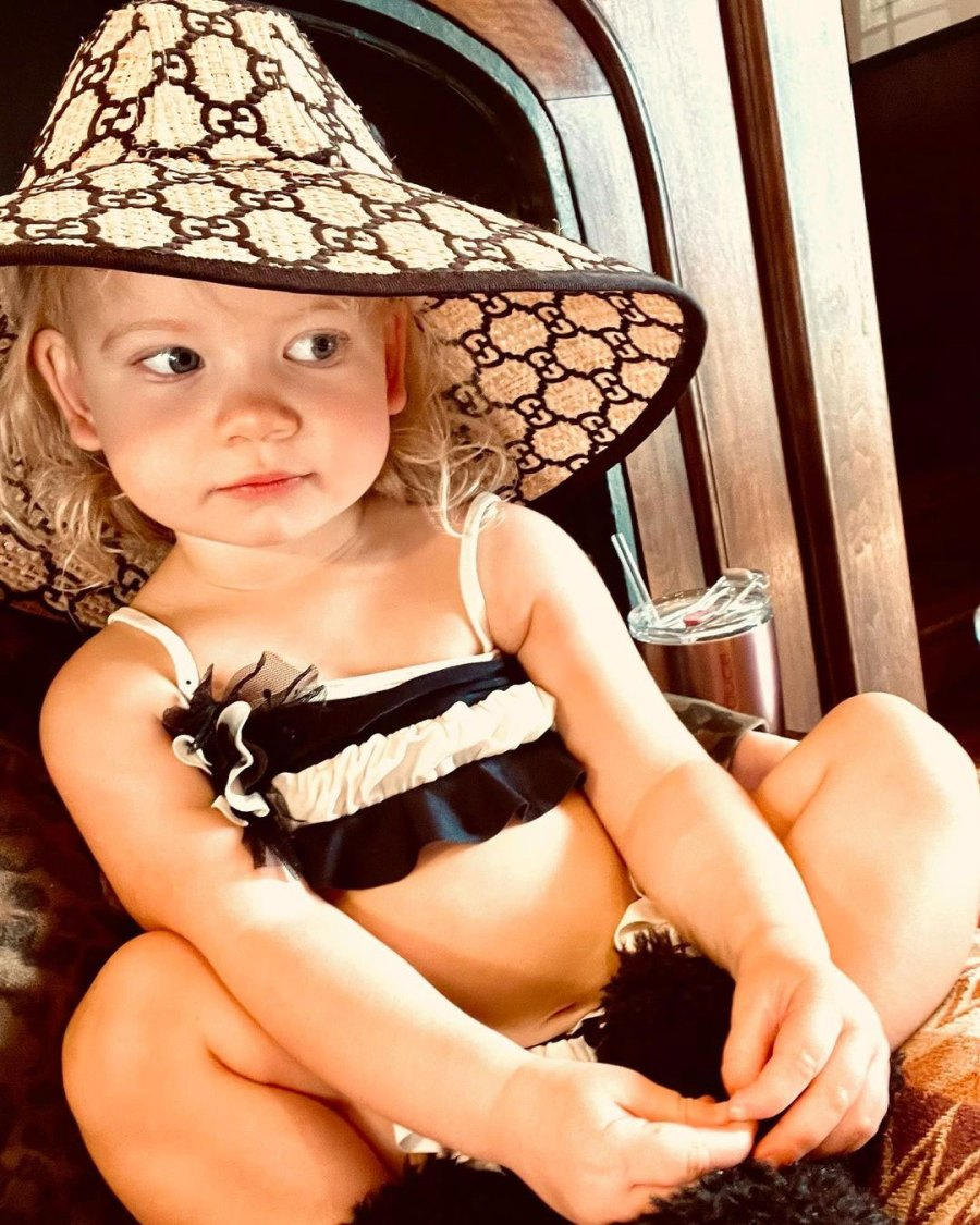 Birdie Straw Hat Jessica Simpson Youngest Daughter Cutest Pics