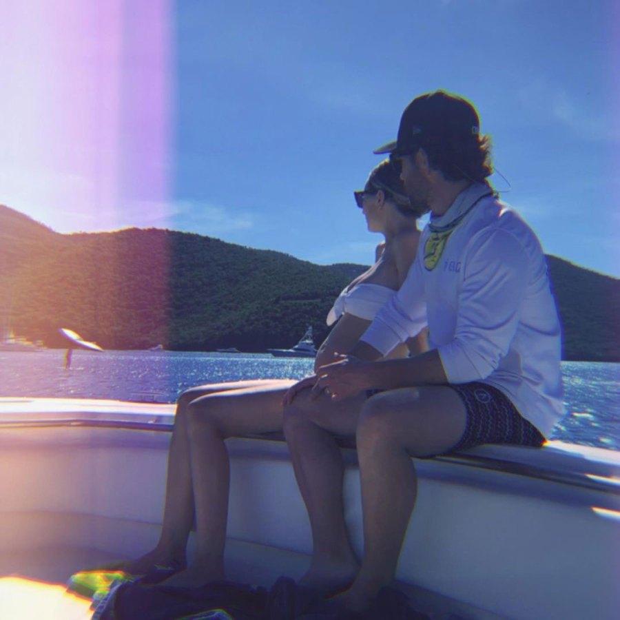 Boat Ride Inside Pregnant Lauren Bushnell and Chris Lane Babymoon