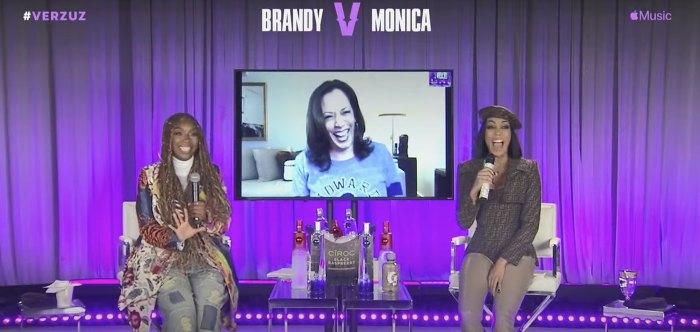 Brandy estaba realmente feliz de reunirse con Monica para Verzuz Battle