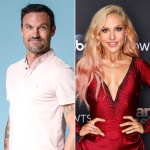Brian Austin Green Sharna Burgess Go Instagram Official Sweet Kissing Pic