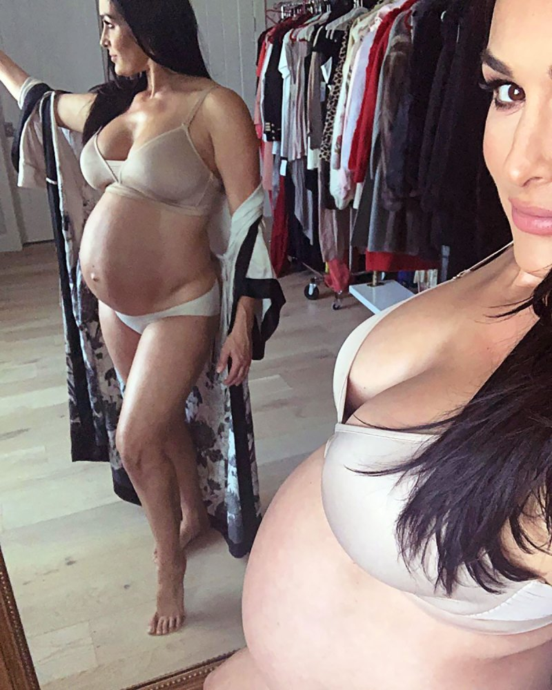 Girl in white bra and panties plays with herself facebook Pregnant Celebs Wear Lingerie While Pregnant Baby Bump Pics