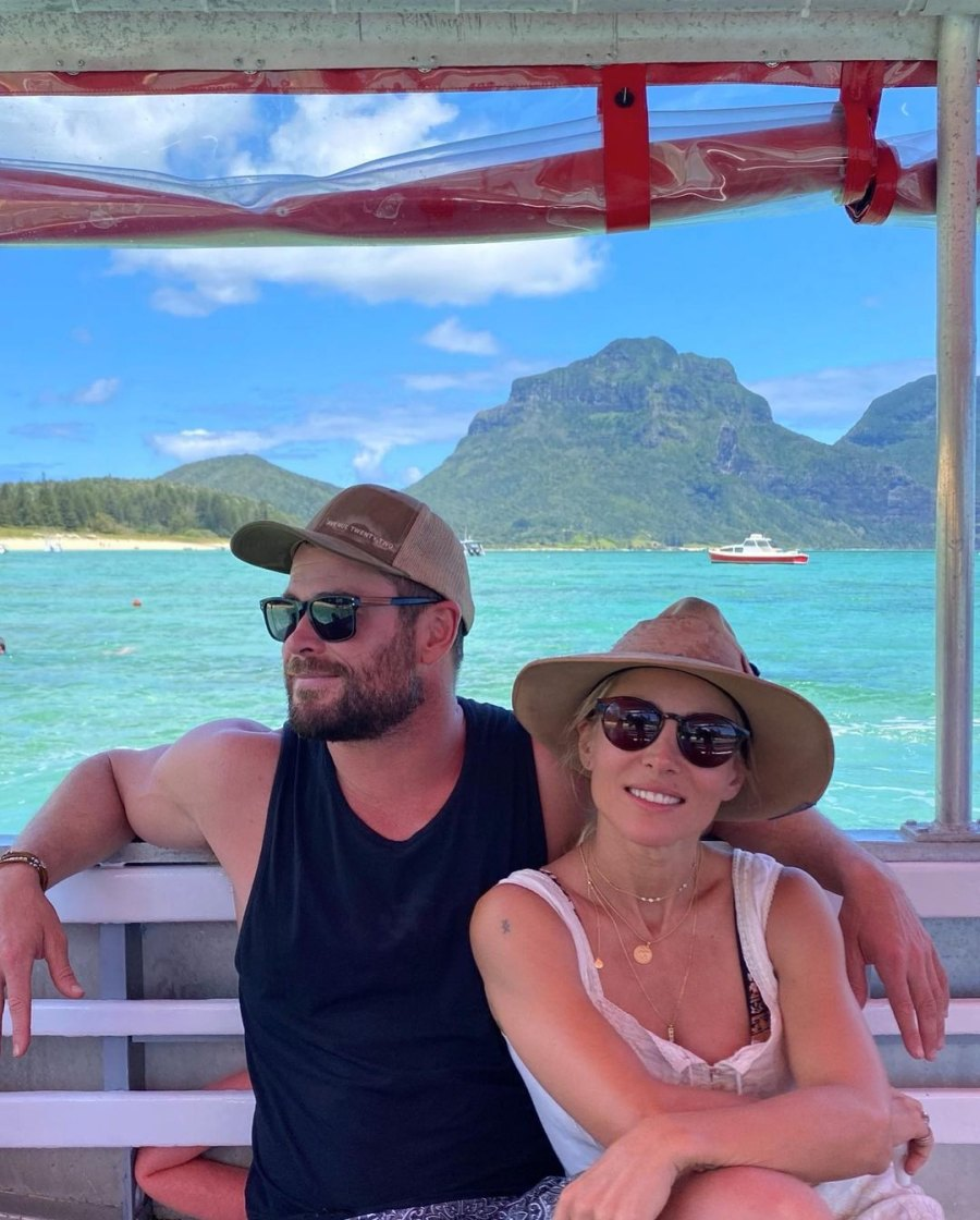 Chris Hemsworth Shows Off in Shirtless Snaps During Island Family Getaway Ahead of Thor Filming