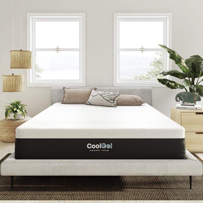 Classic Brands Colchón de cama de gel fresco convencional, tamaño queen