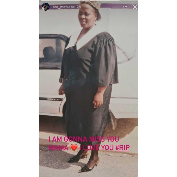 DWTS Keo Motsepe Mourns Mom's Death