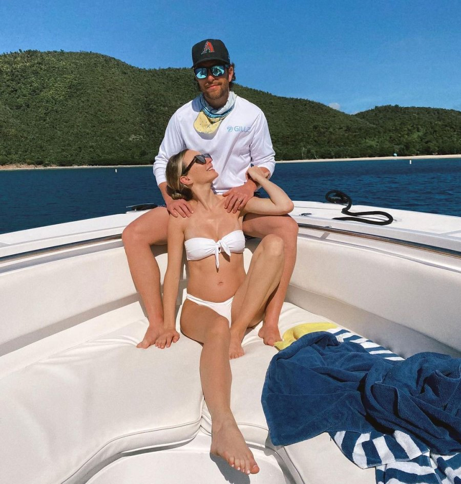 Dad Jokes Inside Pregnant Lauren Bushnell and Chris Lane Babymoon