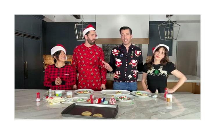 December 2020 Cookie Making Double Date Zooey Deschanel Jonathan Scott Drew Scott Linda Phan