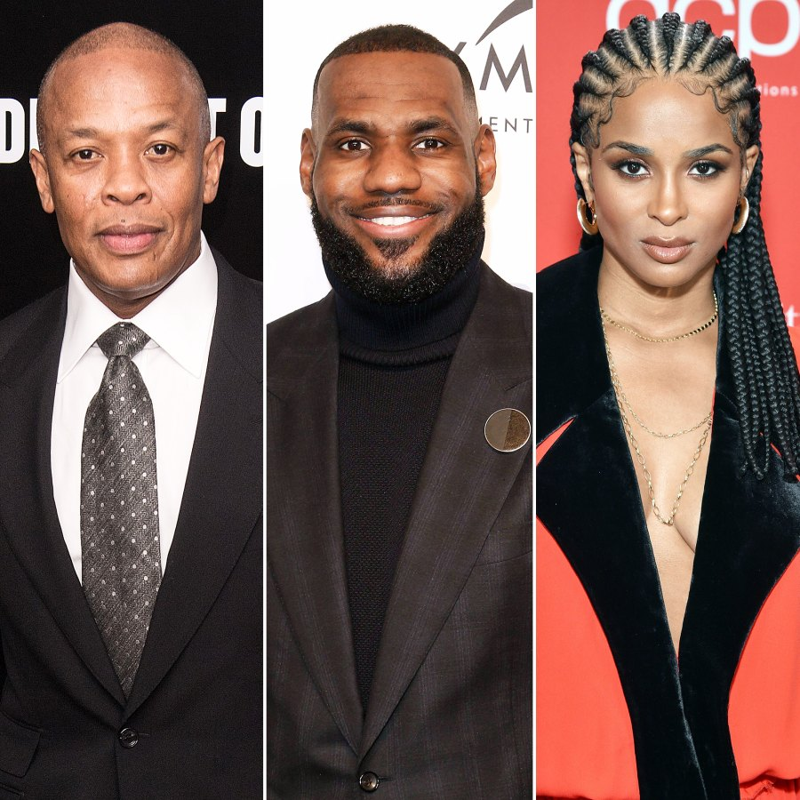 Dr Dre LeBron James and Ciara Dr Dre Gets Well-Wishes From Celebs Speaks Out After Brain Aneurysm