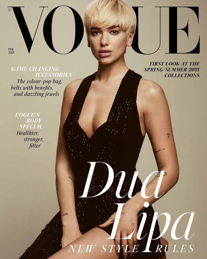 Dua Lipa Looks Unrecognizable in a Short Blonde Wig on U.K. 'Vogue' Cover