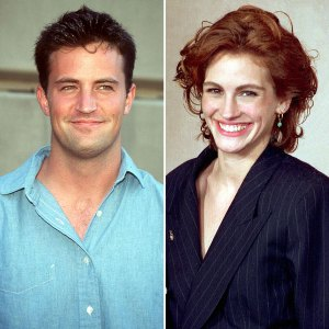 Friends Writers Say Matthew Perry Julia Roberts Flirted Over Faxing