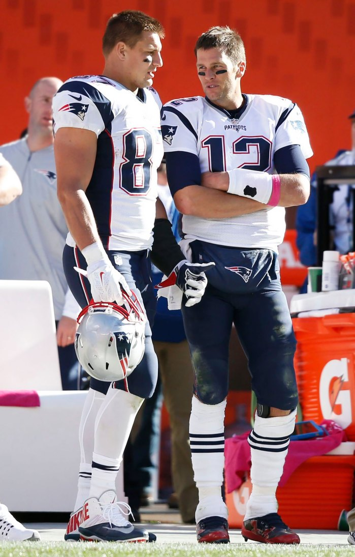 Cómo Rob Gronkowski y Tom Brady celebraron la victoria de la NFC antes del Super Bowl