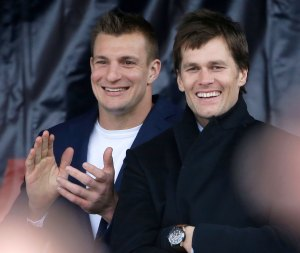 How Rob Gronkowski and Tom Brady Celebrated NFC Win Ahead of Super Bowl