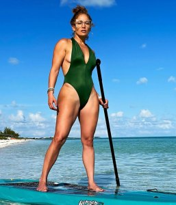 Jennifer Lopez's Body Is Off the Charts in This High-Cut One-Piece