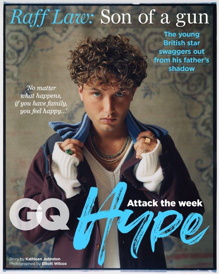 Jude Law Son Raff se parece a la portada de papá británico GQ