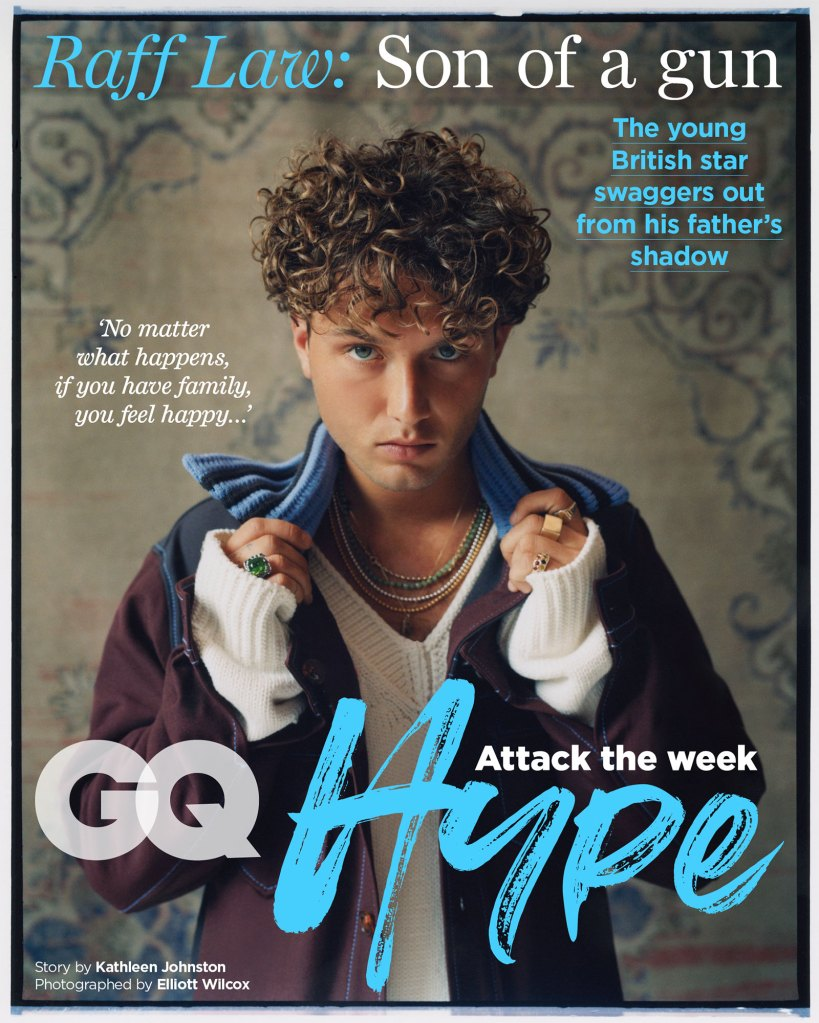 Jude Law Son Raff Looks Just Like Dad British GQ Cover