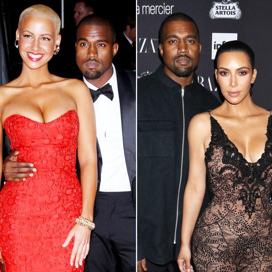 Amber Rose Kim Kardashian Kanye West Dating History Through the Years