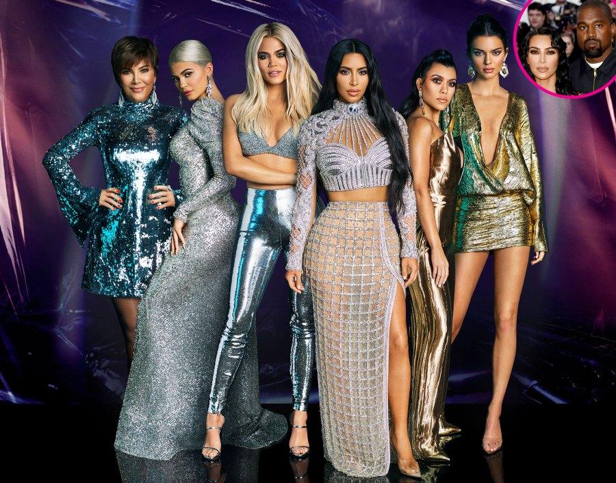 Kardashian-Jenner Family Reacts to Kim Kardashian and Kanye West's Split