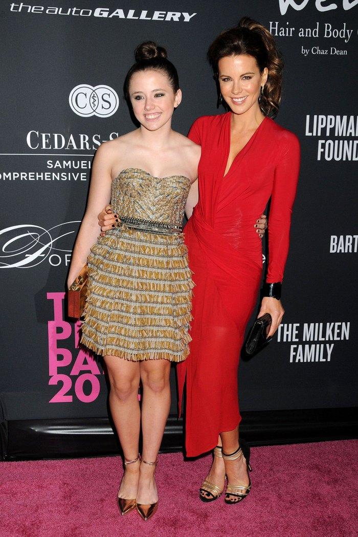 La hija de Kate Beckinsale soñó que estaba embarazada de los gemelos de Nick Nolte Lily Mo