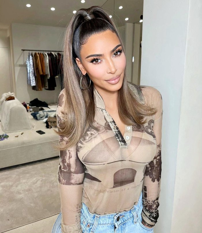 Kim Kardashian Reveals New Hairstyle Amid Kanye West Split Rumors