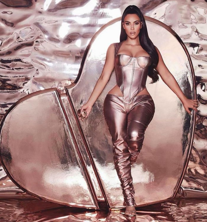 Kim Kardashian Shows a Little Skin in a Butt-Baring Jumpsuit for the KKW Fragrance Promo